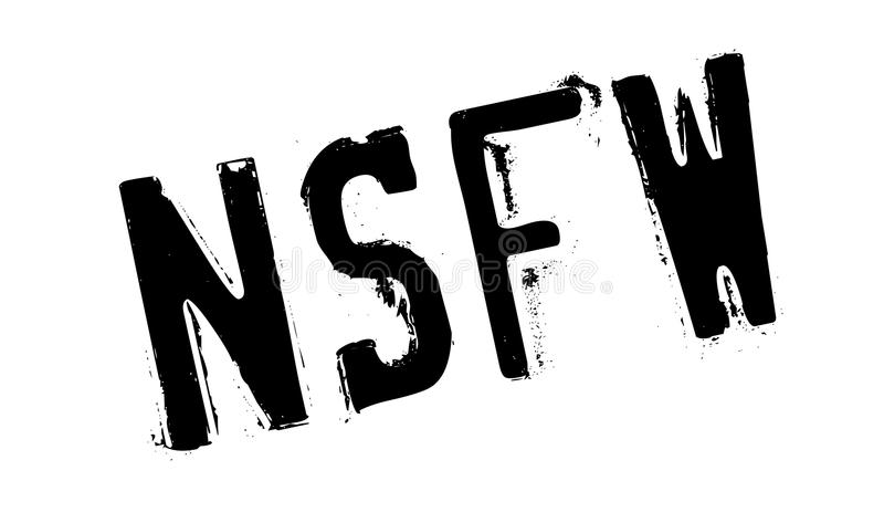 Nsfw-Stempel stock abbildung