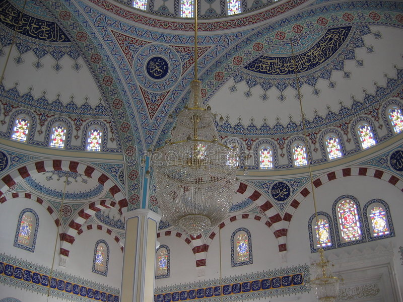 Nside une mosquée en Turquie image libre de droits