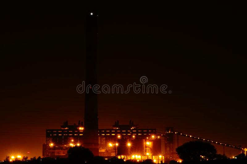 NSPCL Bhilai Power Plant, Bhilai. Chhattishgarh. The NSPCL Bhilai Power Plant is a coal-fired captive power station at Bhilai in Durg district, Chhattisgarh royalty free stock image
