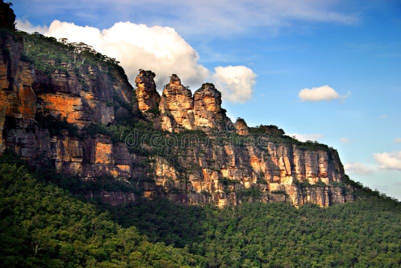 nsw горы Австралии голубое стоковое изображение