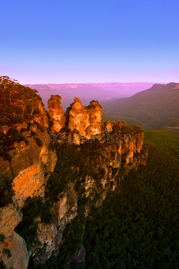 nsw горы Австралии голубое стоковое изображение rf