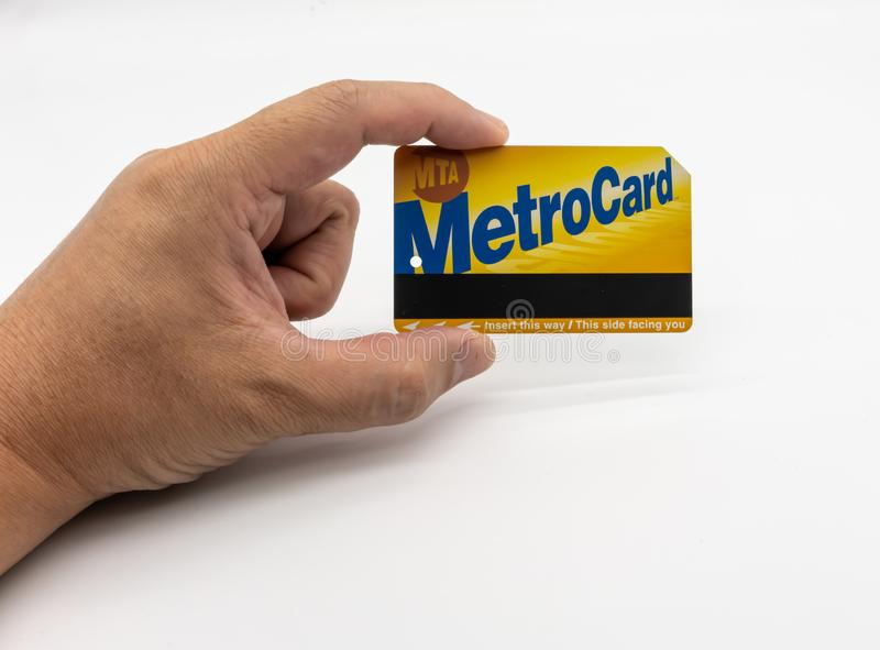 NTC地铁卡片 r 2019年5月29日:NYC MTA Metrocard纽约地铁 库存照片