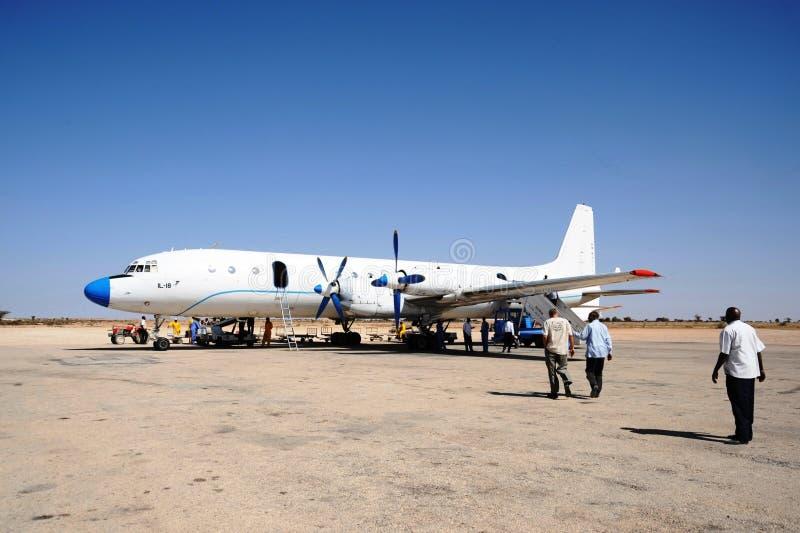 Nternationalluchthaven in de stad van Hargeisa stock afbeeldingen