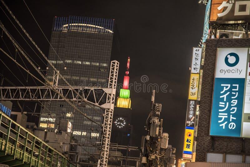 NTT Docomo修造的代代木,东京 免版税库存照片