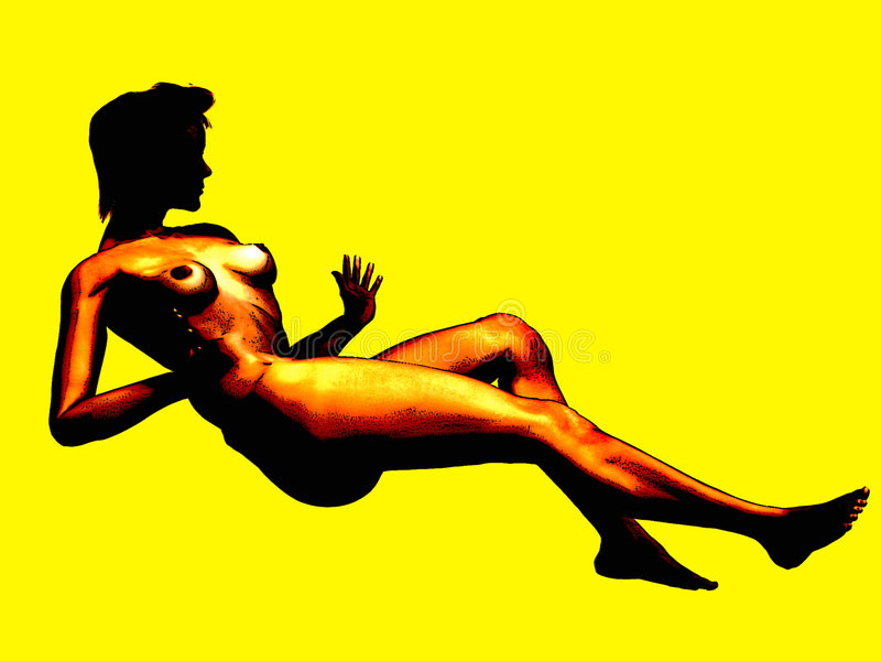 Download Nu ilustração stock. Ilustração de pose, digital, shapely - 125312