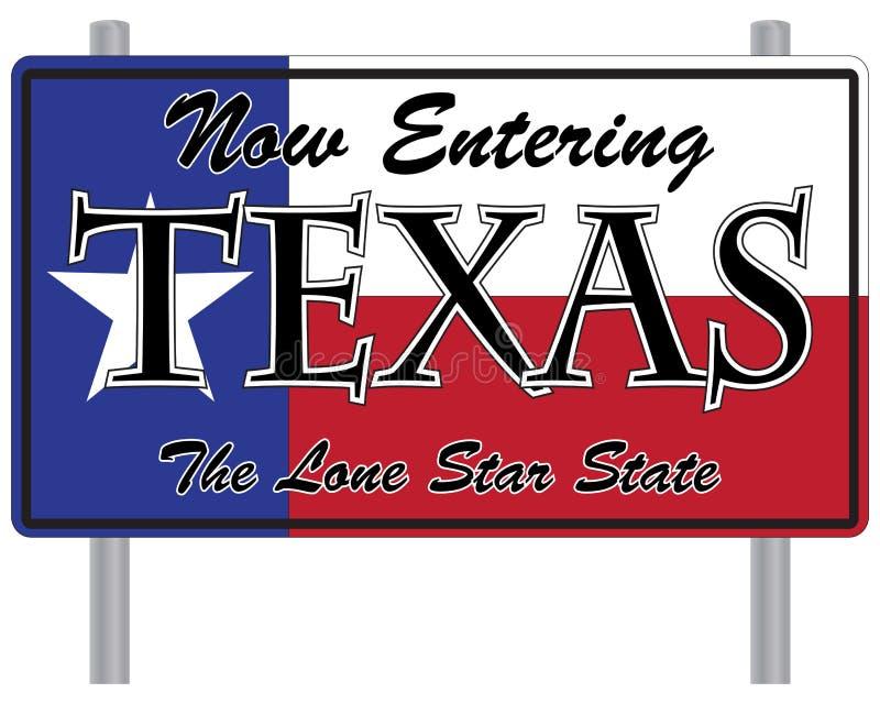 Nu Ingaand Texas Sign vector illustratie