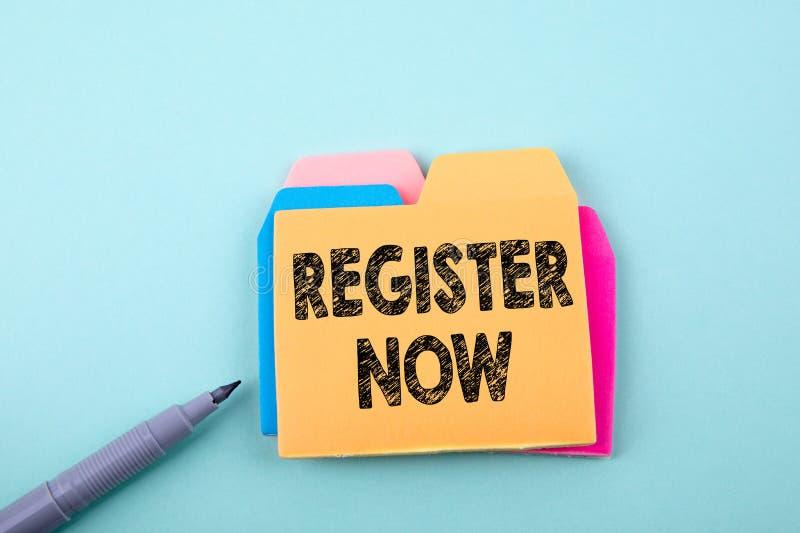 nu register Affär teknologibegrepp royaltyfria foton