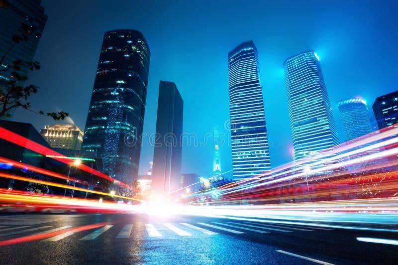Nu staden på natten royaltyfria foton