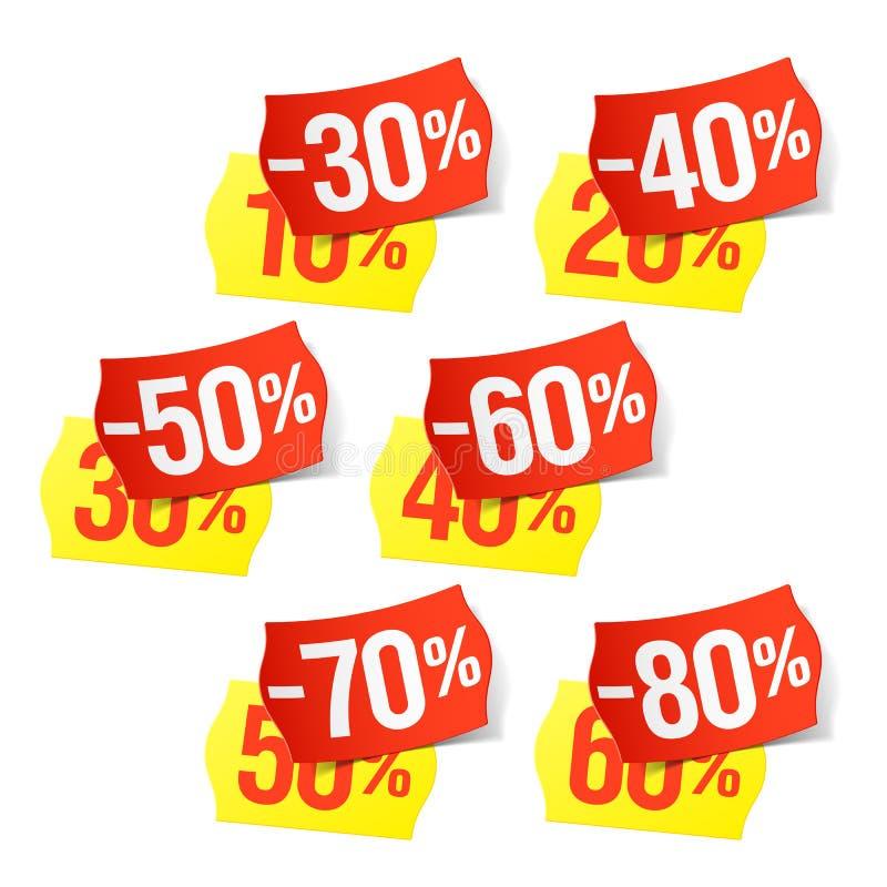 Nu zelfs nog meer kortingen - prijskaartjes stock illustratie