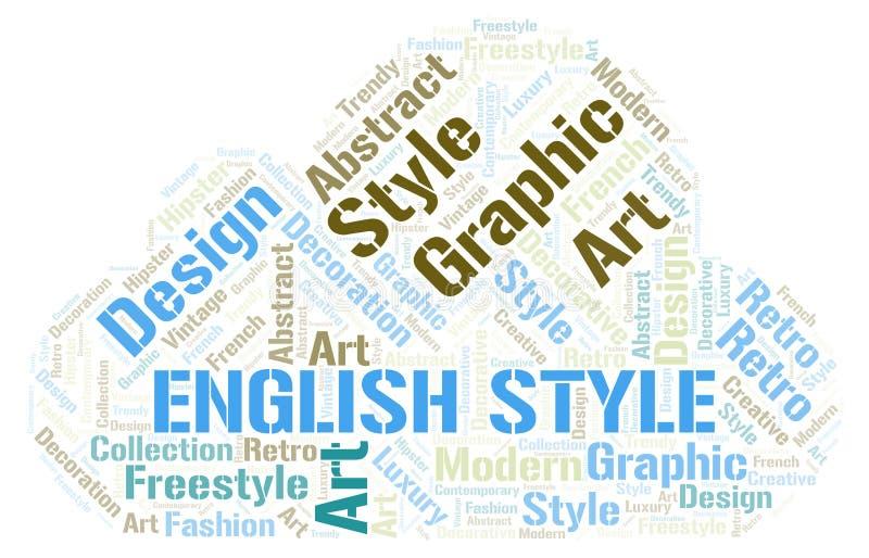 Nuage anglais de mot de style illustration libre de droits