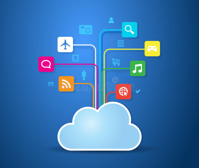 Nuage Apps illustration stock