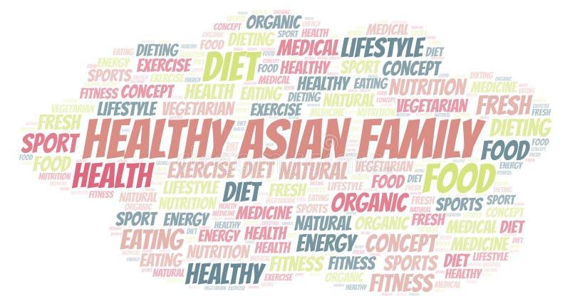 Nuage asiatique sain de mot de famille illustration libre de droits