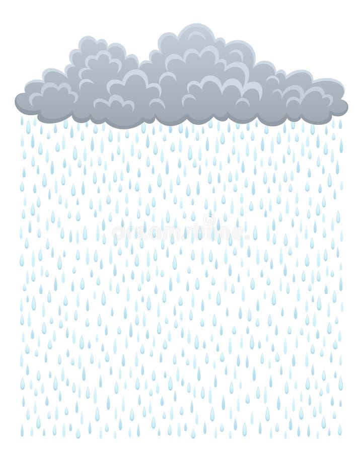 Nuage avec la pluie illustration de vecteur