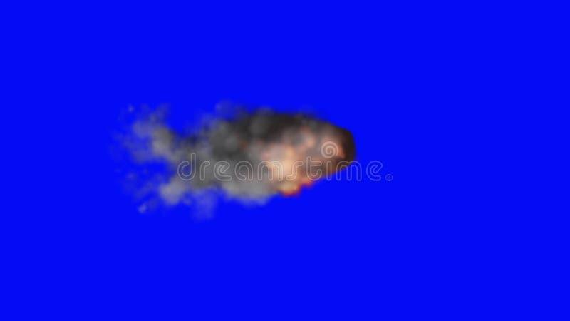 vente en ligne belle et charmante nouvelle saison Nuage brûlant de fumée et du feu sur un fond d écran bleu.