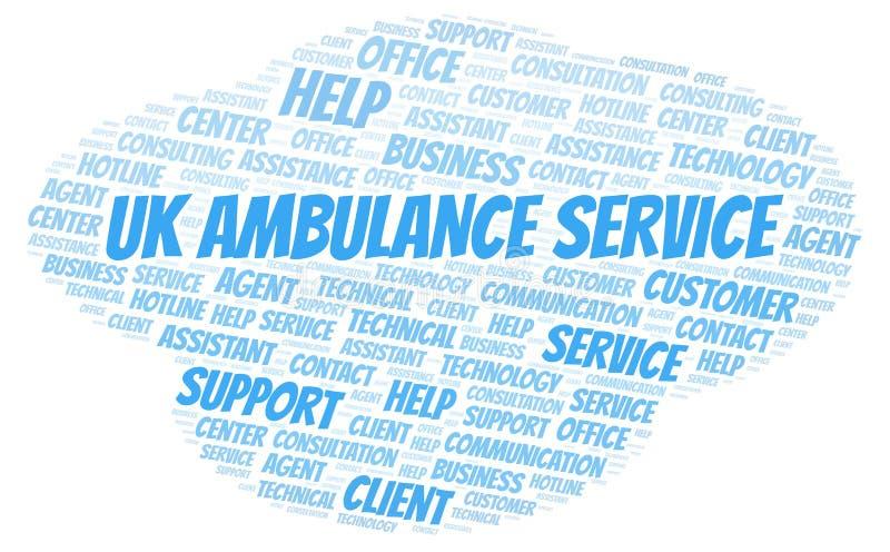 Nuage britannique de mot de service d'ambulance illustration stock