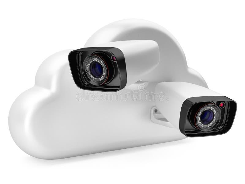 Nuage calculant avec une caméra de sécurité illustration libre de droits