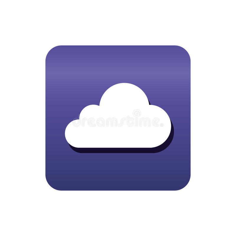 Download Nuage Calculant L'icône D'isolement Illustration de Vecteur - Illustration du symbole, nuage: 87704279