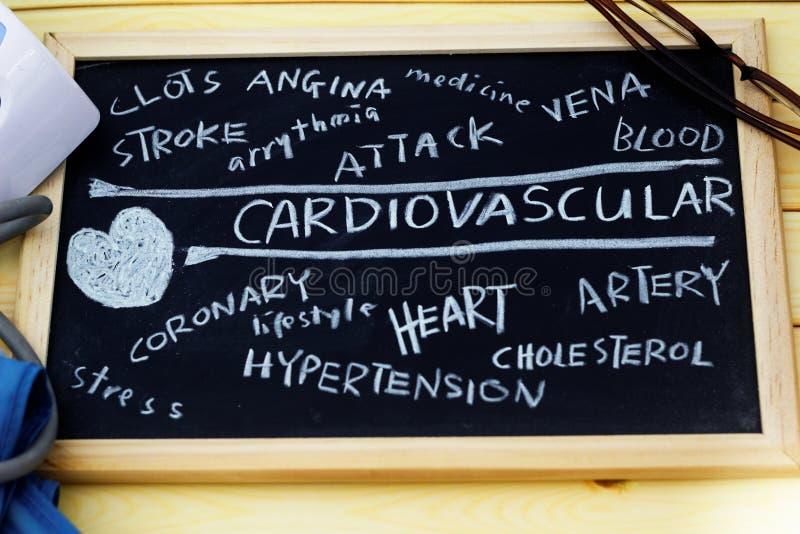 Nuage cardio-vasculaire de mots images stock