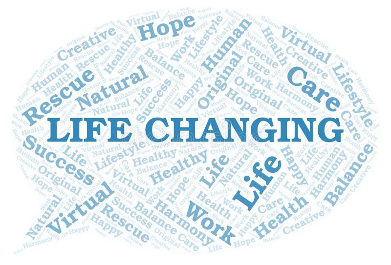 Nuage changeant de mot de la vie illustration libre de droits