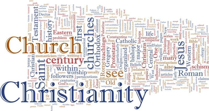 Nuage chrétien de mot illustration libre de droits