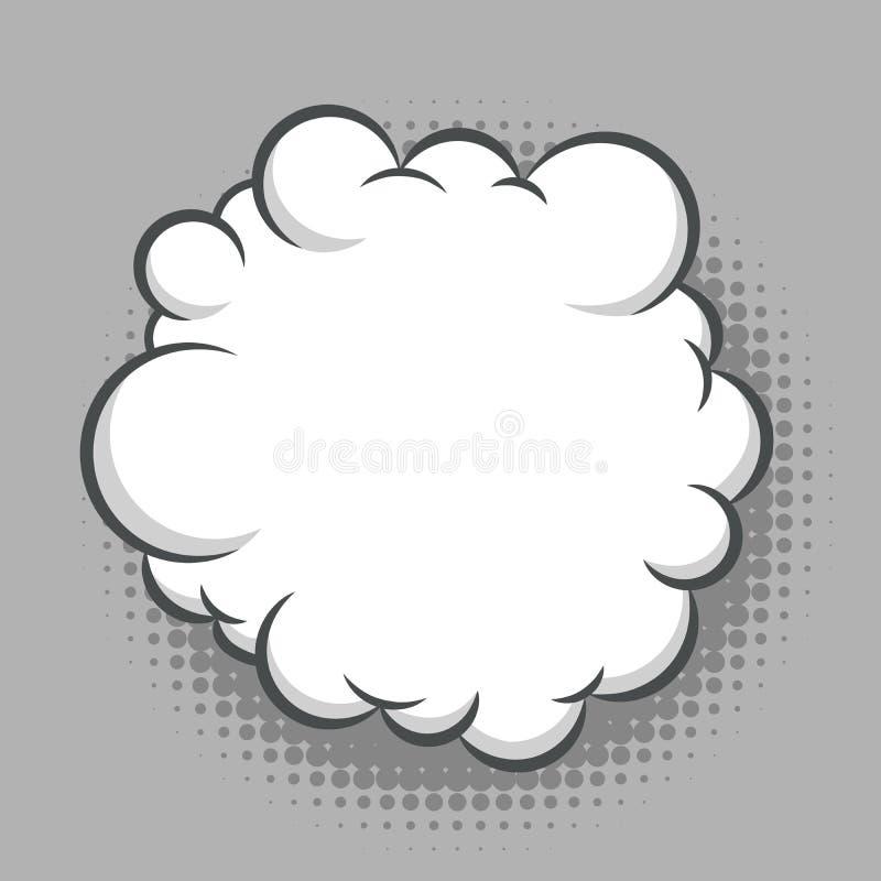 Nuage comique blanc rond abstrait illustration stock