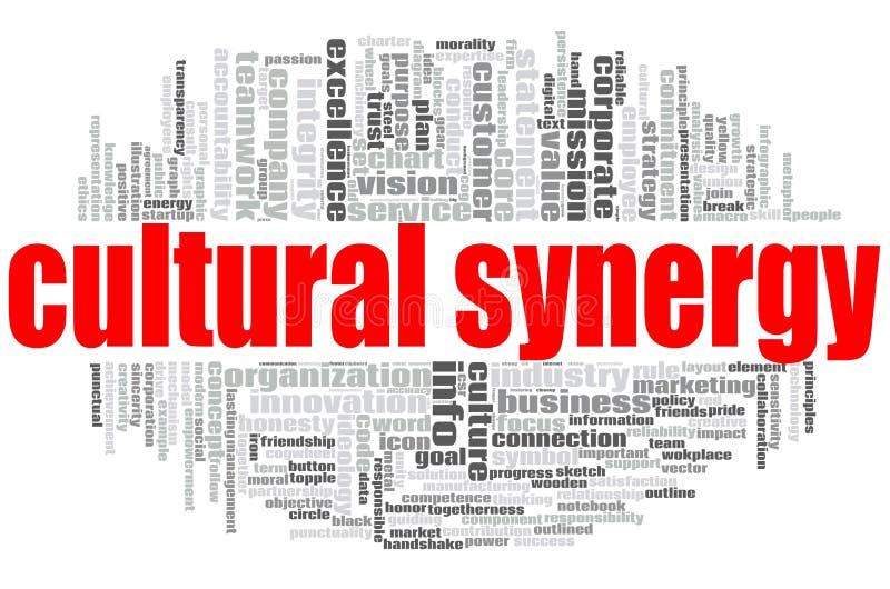 Nuage culturel de mot de synergie illustration stock