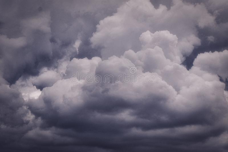 Nuage, cumulonimbus, orage au-dessus d'Oklahoma City photos libres de droits