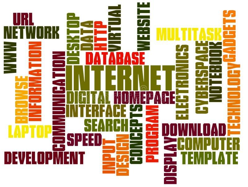 Nuage d'étiquette de technologie d'Internet image stock
