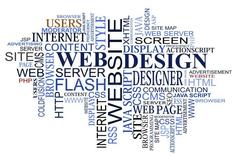 Nuage d'étiquettes de conception et de Web illustration stock