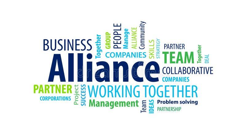 Nuage d'Alliance Word illustration de vecteur