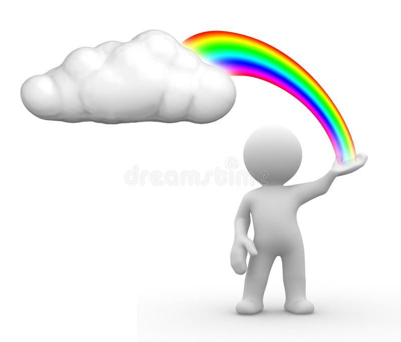 Nuage d'arc-en-ciel illustration de vecteur