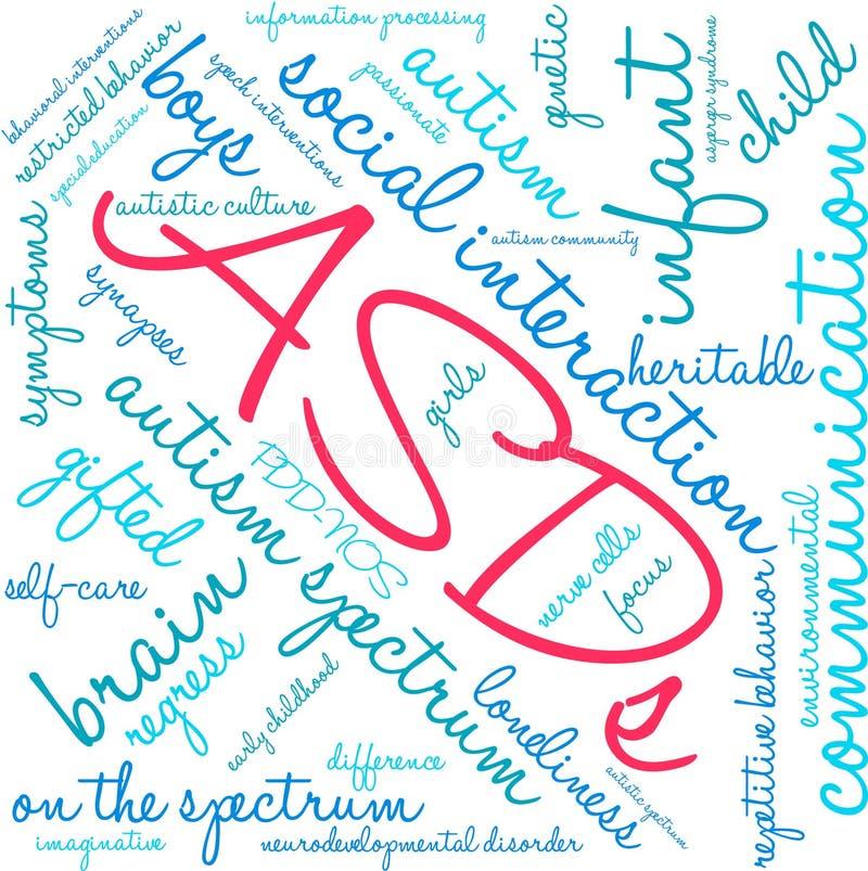 Nuage d'ASDs Word illustration stock