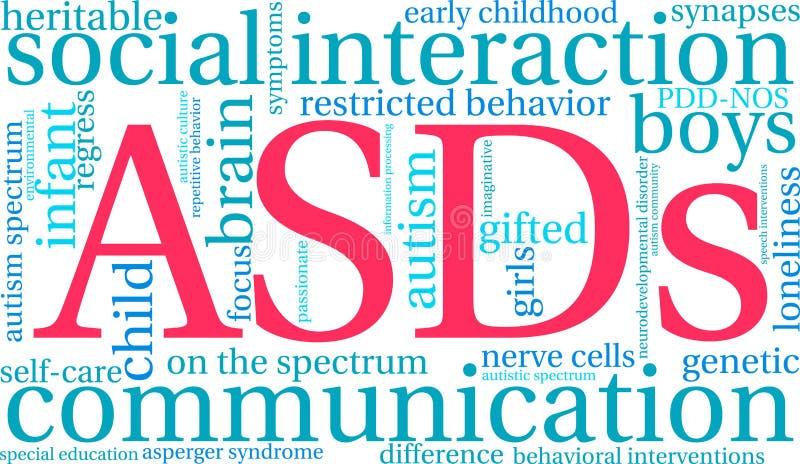 Nuage d'ASDs Word illustration de vecteur