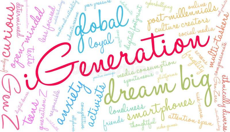 Nuage d'IGeneration Word illustration stock