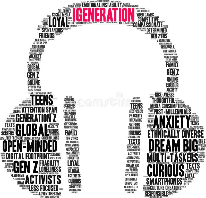 Nuage d'IGeneration Word illustration libre de droits