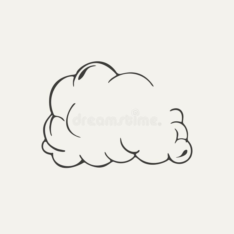Nuage d'illustration de style noir et blanc de la poussière illustration libre de droits