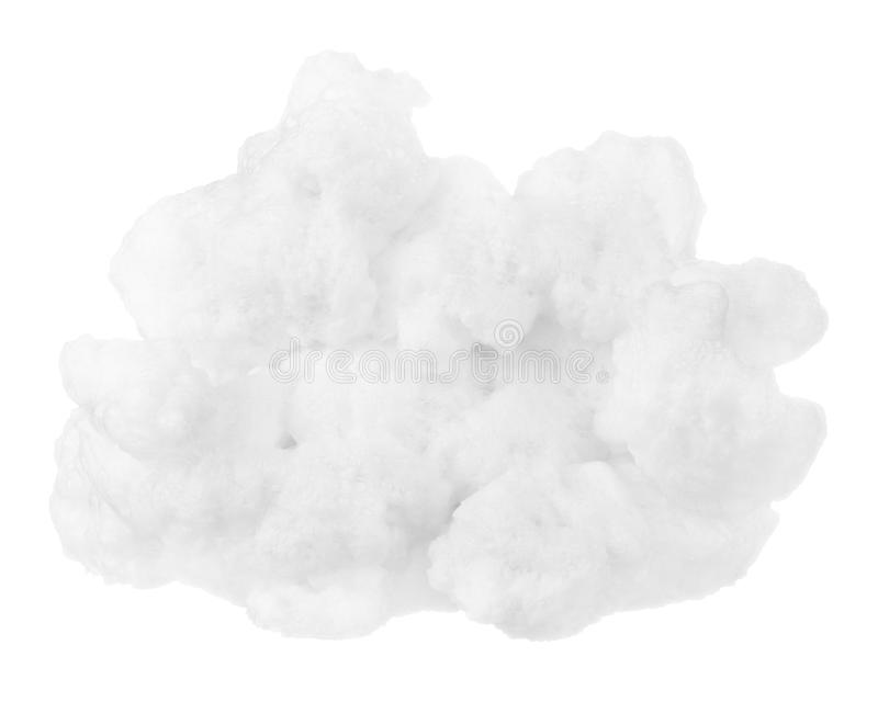 Nuage d'isolement au-dessus de la crête de montagnes image stock