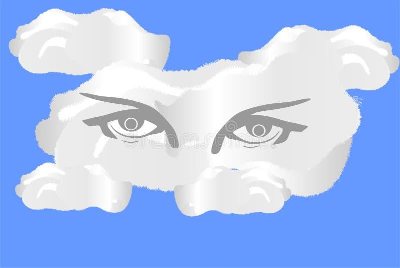 Nuage d'oeil illustration de vecteur