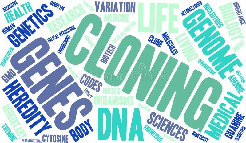 Nuage de clonage de Word illustration stock