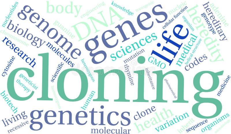 Nuage de clonage de Word illustration de vecteur