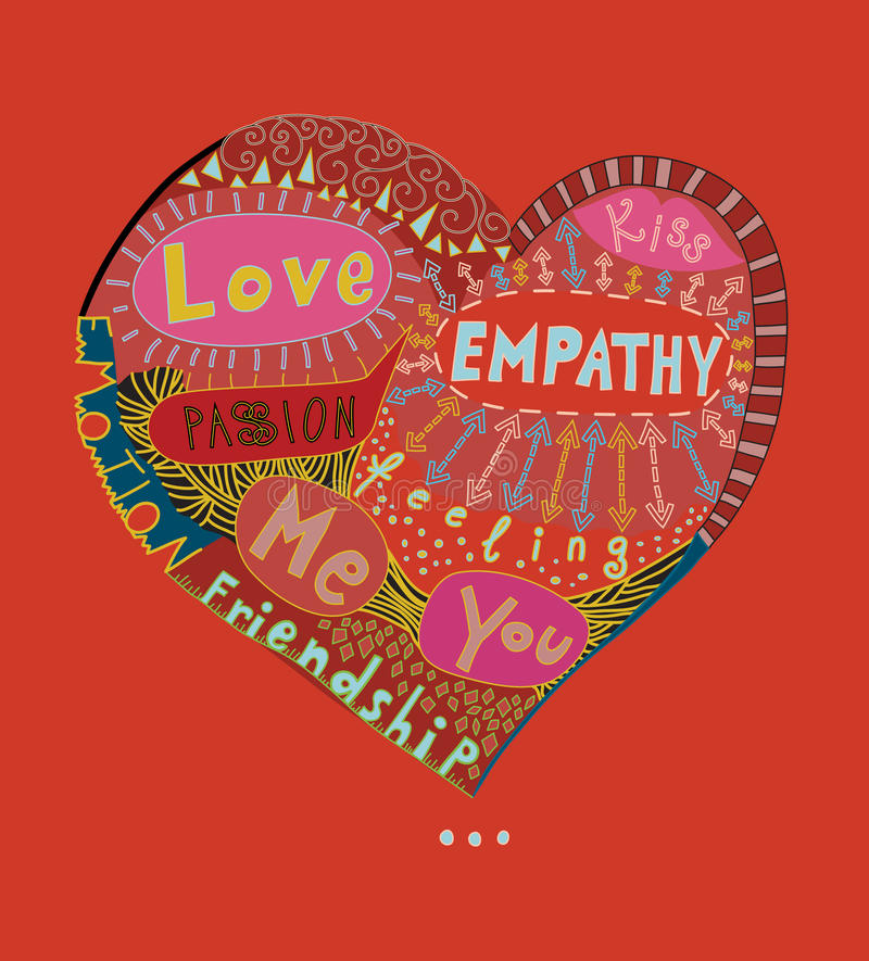 Nuage de coeur de Word d'amour illustration libre de droits