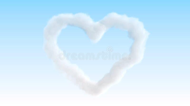 Nuage de coeur sur le ciel illustration stock
