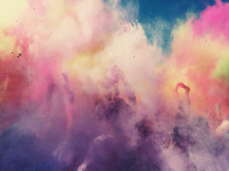 nuage de couleur images libres de droits