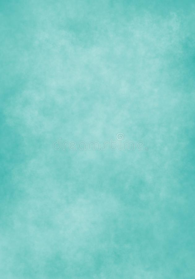 Nuage de couleur d'eau, vieux papier, fond vert de mur d'aqua illustration libre de droits