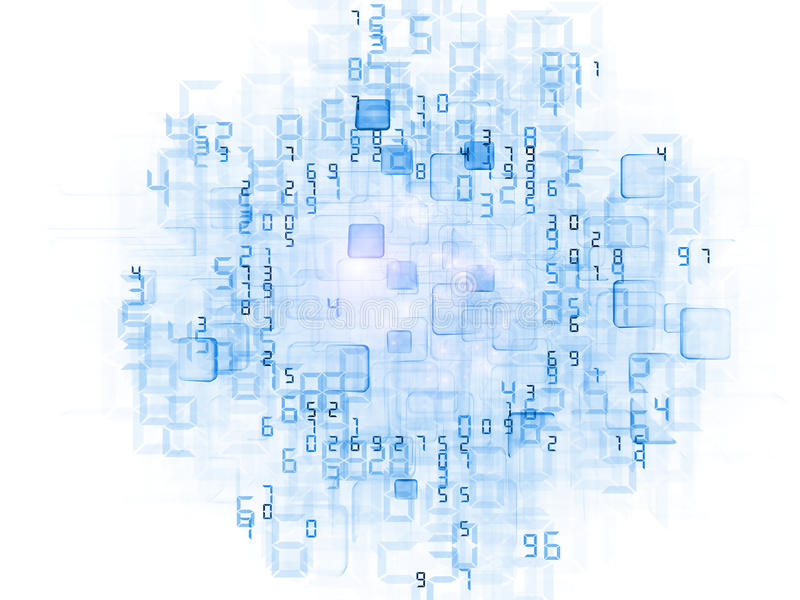 Nuage de données illustration stock