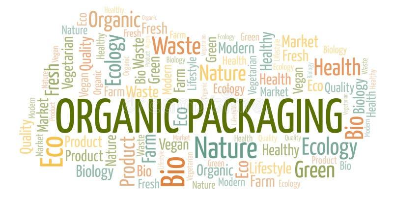 Nuage de empaquetage organique de mot illustration de vecteur