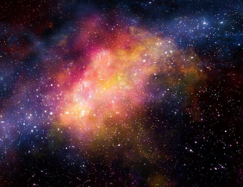 Nuage de gaz de nébuleuse dans l'espace extra-atmosphérique illustration de vecteur