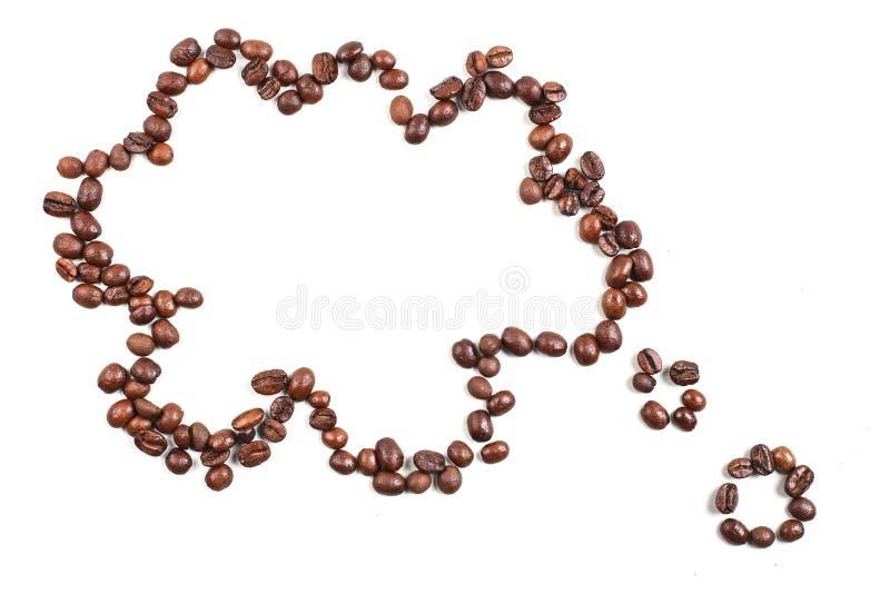 Nuage de grains de café photo libre de droits