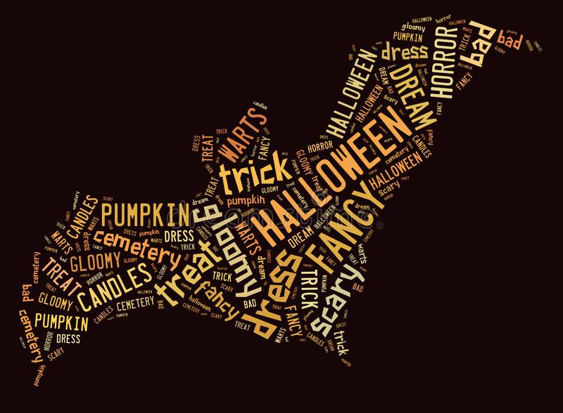 Nuage de Halloween Word illustration de vecteur