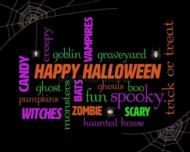 Nuage de Halloween Word illustration stock